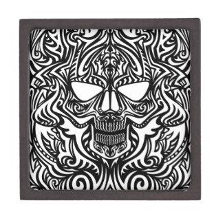 Cráneo blanco y negro cajas de joyas de calidad