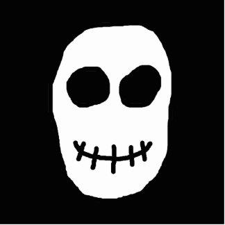 Cráneo blanco y negro. Estilo primitivo Adorno Fotoescultura