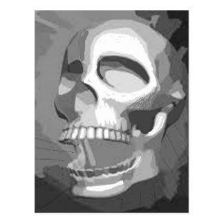 Cráneo blanco y negro postal