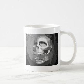 Cráneo blanco y negro tazas de café