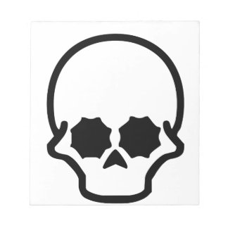 Cráneo Bloc De Papel