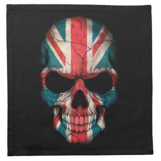 Cráneo británico adaptable de la bandera servilleta de papel