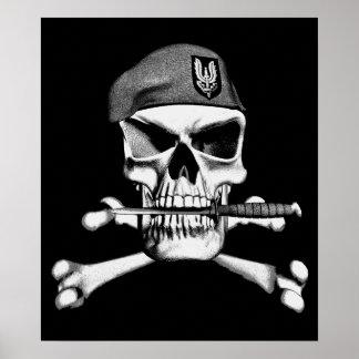 Cráneo británico del SAS Póster