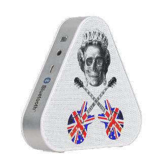 Cráneo británico original y bandera pirata de la altavoz bluetooth
