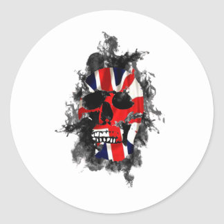 cráneo británico pegatina