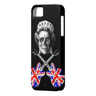 Cráneo británico y bandera pirata de la música del funda para iPhone 5 barely there