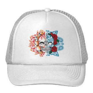 cráneo bueno/malvado gorras