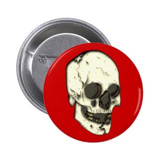 Cráneo calavera skull pin redondo de 2 pulgadas
