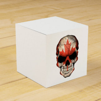 Cráneo canadiense de la bandera paquete de regalo para bodas