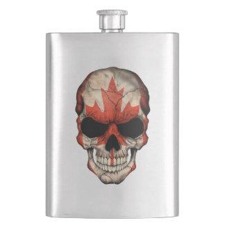 Cráneo canadiense de la bandera cantimploras
