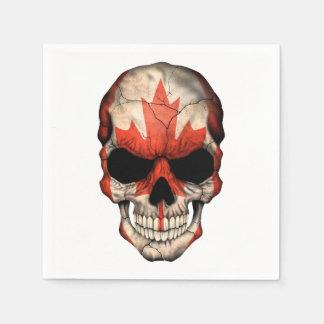 Cráneo canadiense de la bandera servilleta desechable