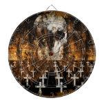 Cráneo, cementerio, Grunge, gótico, ilustraciones  Tabla Dardos