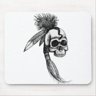 Cráneo cherokee Mousepad Tapetes De Ratones