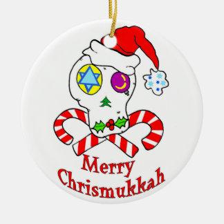 Cráneo Chrismukkah Ornamentos Para Reyes Magos