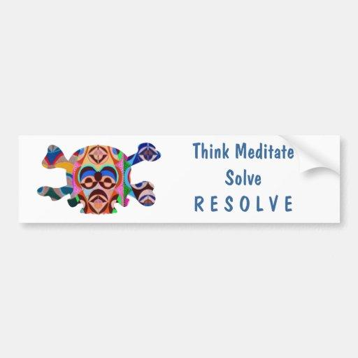 Cráneo clínicamente muerto - Meditate la resolució Etiqueta De Parachoque