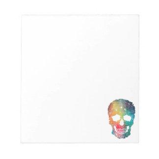 Cráneo colorido de la flor libreta para notas