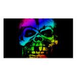 Cráneo colorido del arco iris tarjeta de negocio