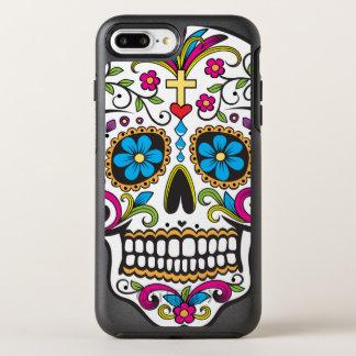 Cráneo colorido del caramelo funda OtterBox symmetry para iPhone 7 plus