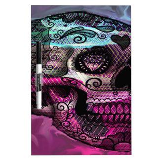 cráneo colorido, gráfico abstracto tablero blanco