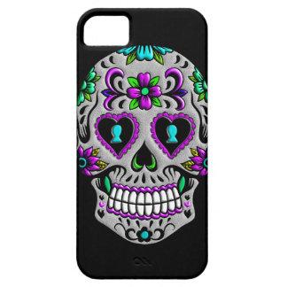 Cráneo colorido retro del azúcar iPhone 5 protectores