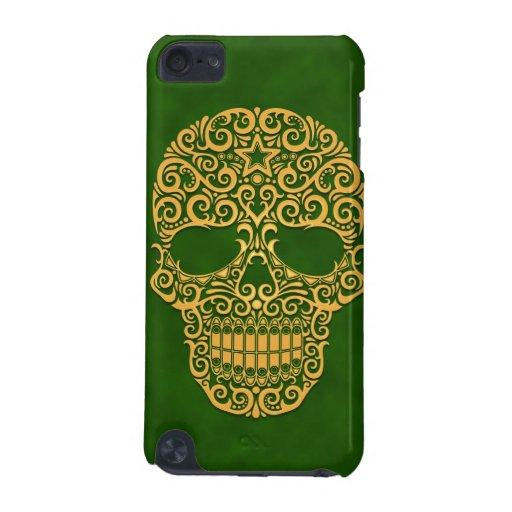 Cráneo complejo del azúcar - verde de oro funda para iPod touch 5G