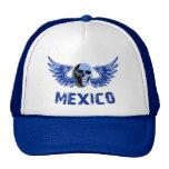 Cráneo con alas azul de México Gorra