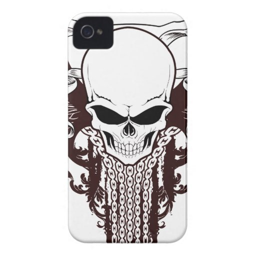 Cráneo con alas Case-Mate iPhone 4 coberturas