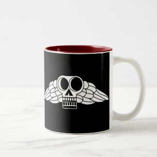 Cráneo con alas Colonial Taza De Café