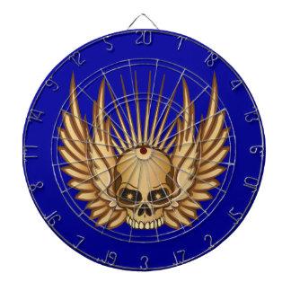 Cráneo con alas de oro