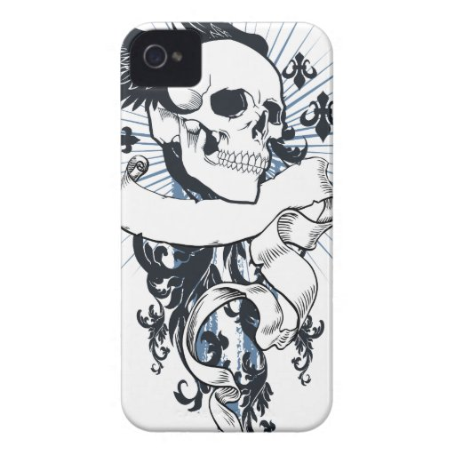 Cráneo con alas iPhone 4 Case-Mate funda