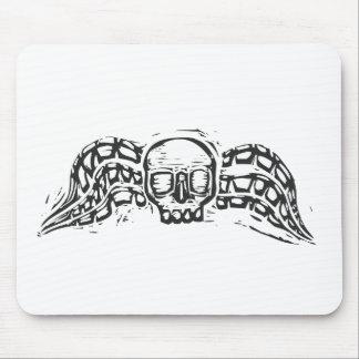 Cráneo con alas mousepad