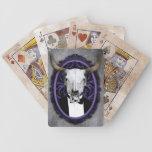 Cráneo con clase del vintage cartas de juego