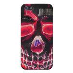 Cráneo con código de barras iPhone 5 protectores