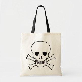Cráneo con el bolso de los apoyos bolsa tela barata