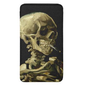 Cráneo con el cigarrillo ardiente de Van Gogh Funda Acolchada Para Galaxy S5