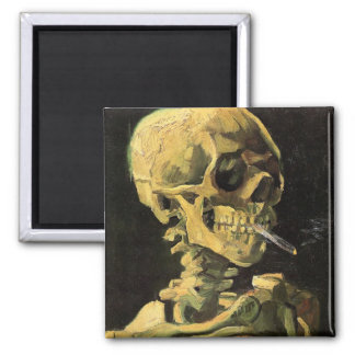 Cráneo con el cigarrillo ardiente de Vincent van G Iman De Nevera