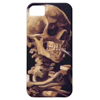 Cráneo con el cigarrillo ardiente que pinta a Van  iPhone 5 Case-Mate Carcasas