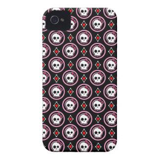Cráneo con el corazón y el diseño del arco iPhone 4 funda