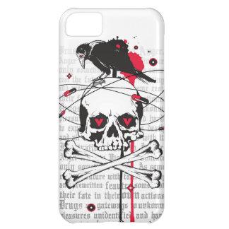 Cráneo con el cuervo funda para iPhone 5C