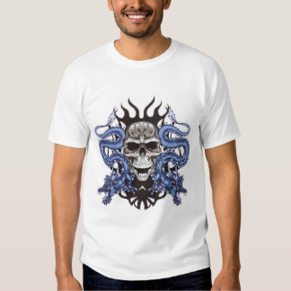 Cráneo con el dragón remera