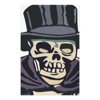 Cráneo con el sombrero de copa  papeleria