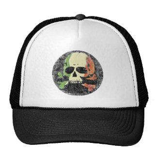 Cráneo con la bandera tricolora irlandesa gorro