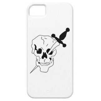 cráneo con la espada iPhone 5 Case-Mate cárcasas