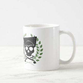 Cráneo con la guirnalda (verde) taza