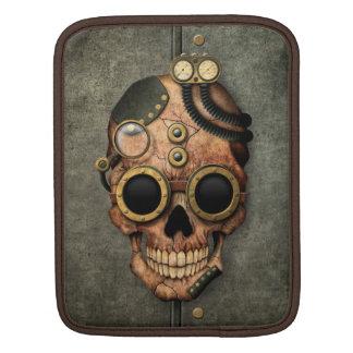 Cráneo con las gafas - efecto de acero de Steampun Funda Para iPads
