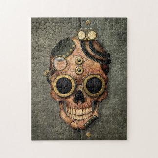 Cráneo con las gafas - efecto de acero de Steampun Puzzles