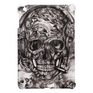 Cráneo con las ilustraciones dibujadas mano de los