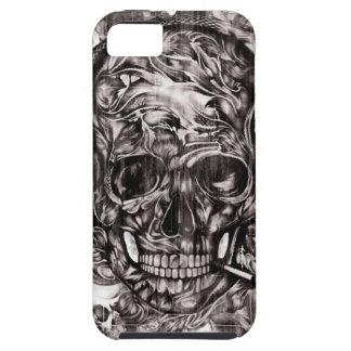Cráneo con las ilustraciones dibujadas mano de los iPhone 5 Case-Mate cárcasa
