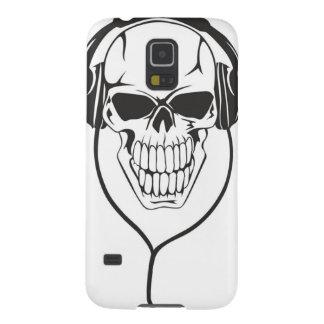 Cráneo con los auriculares carcasa para galaxy s5