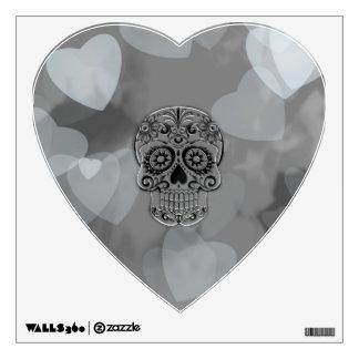 cráneo con los corazones vinilo
